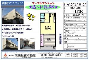 マーブルマンション11万円